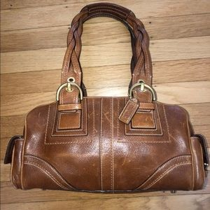Coach purse. Braided handle